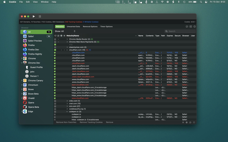 Cookie Mac 破解版 Mac上实用的保护浏览器隐私和防止Cookie追踪的工具-麦氪搜(iMacso.com)